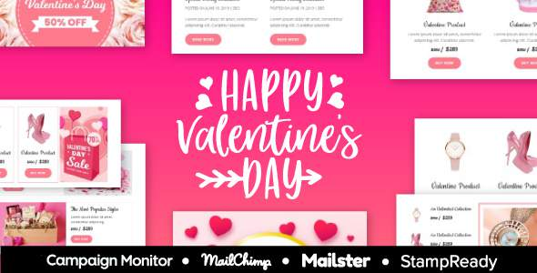 Valentine – Responsive Email Template 30+ Modules – StampReady + Mailster & Mailchimp        TFx Rodolph Maximillian