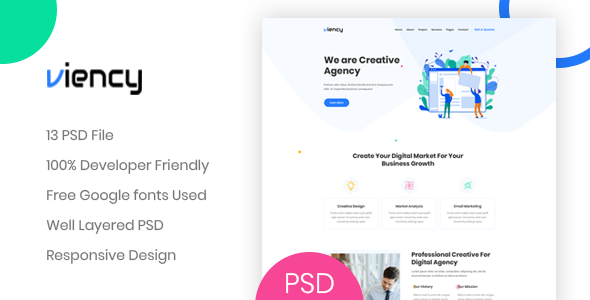 Viency – Agency PSD Template        TFx Troy Irving