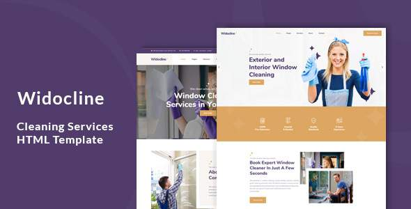Widocline - Professional Window Cleaning Services HTML Template        TFx Norton Quincy