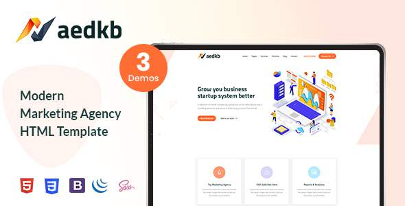 Xaedkb – Digital Marketing HTML Template        TFx Martie Jude