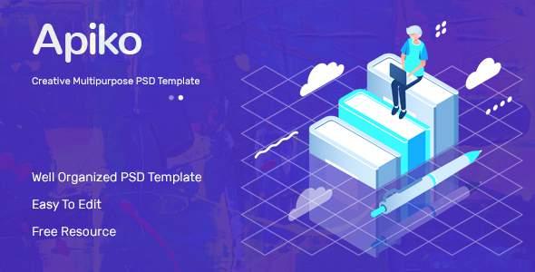 Apiko - Multipurpose Business PSD Template        TFx Ste Grover