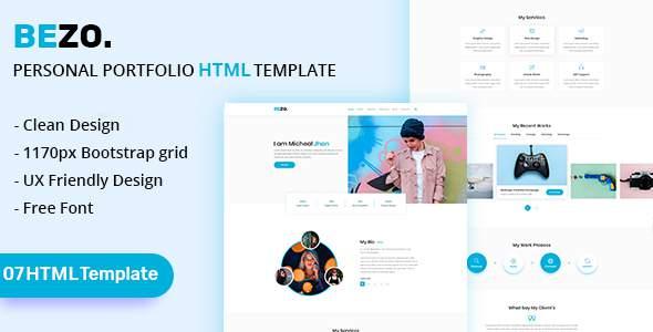 BEZO - Personal Portfolio HTML Template        TFx Kyou Harland