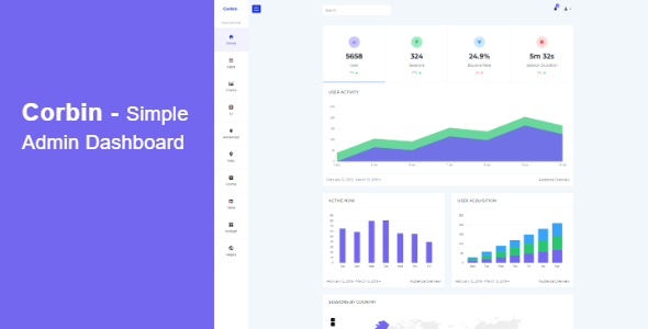 Corbin - Simple Admin Dashboard        TFx Larry Issac