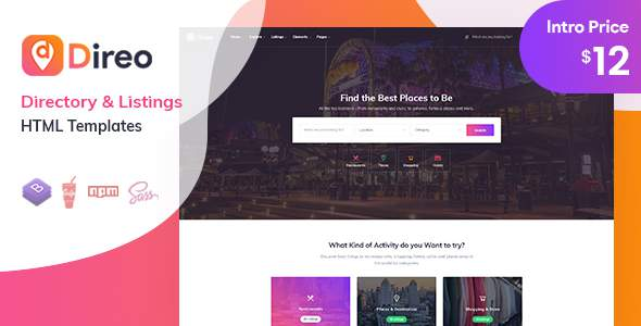 Direo - Directory & Listing HTML Template        TFx Kermit Tracy
