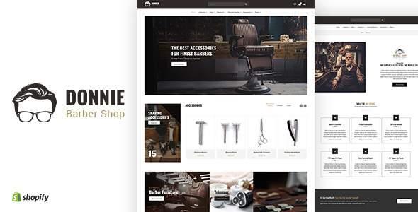 Donnie | Barber Shopify Theme        TFx Malik Sargis
