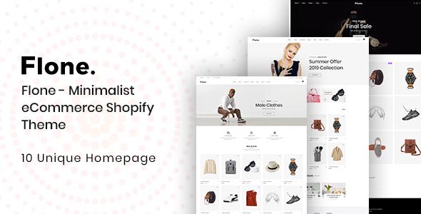 Flone - Minimalist eCommerce Shopify Theme        TFx Tennyson Mervin