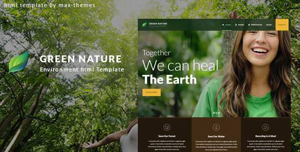 Green Nature - Environmental HTML Template        TFx Fitzroy Gall