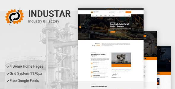 Industar - Industry & Factory PSD Template        TFx Elvis Alfred