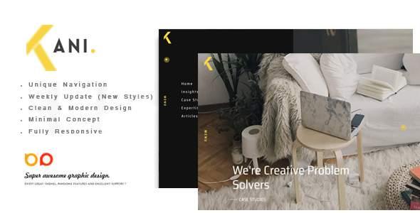 Kani - Creative Portfolio Template        TFx Quza Roddy