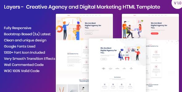 Layers - Creative Agency and Digital Marketing HTML Template        TFx Tasunka Zane