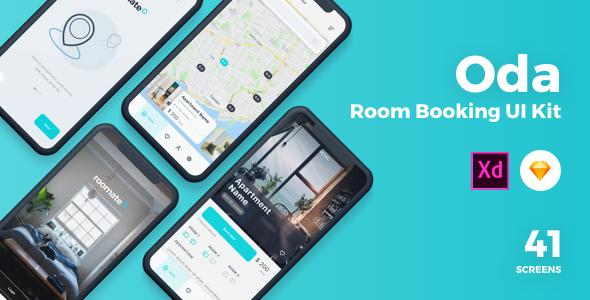 Oda - Room Booking Sketch UI Kit        TFx Lambert Malone