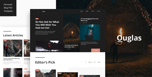 Outglas - A Personal Blog PSD Template        TFx Layton Hyram
