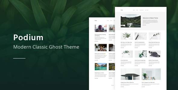 Podium – Modern and Classic Ghost Theme        TFx Nar Gord