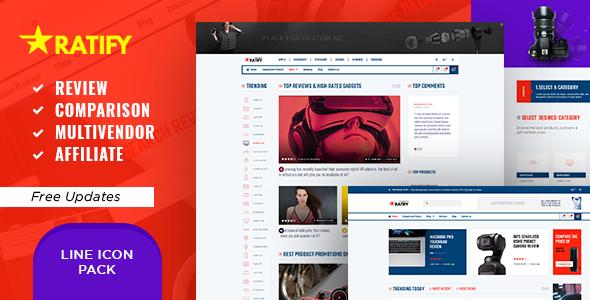Ratify - Premium Review Comparison Multi-Shop Affiliate PSD Template        TFx Willis Ethelred