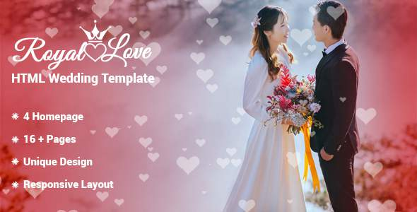 Royal Love - HTML Wedding Template        TFx Flynn Kimball