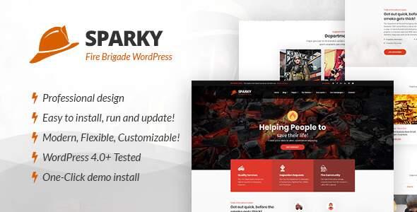 Sparky - Fire Brigade WordPress Theme        TFx Jojo Billy