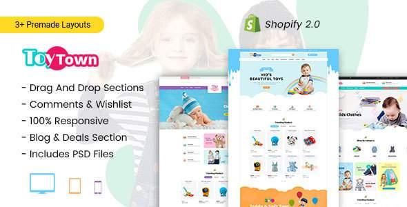 Toytown - Kids Clothing & Toys Store Shopify Theme        TFx Jarred Xavier
