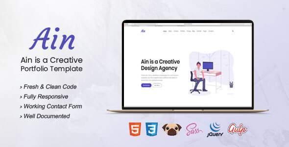 Ain - Portfolio HTML5 Template        TFx Errol Byrne
