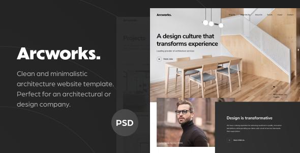 Arcworks — Architecture Firm PSD Template        TFx Antony Kenith