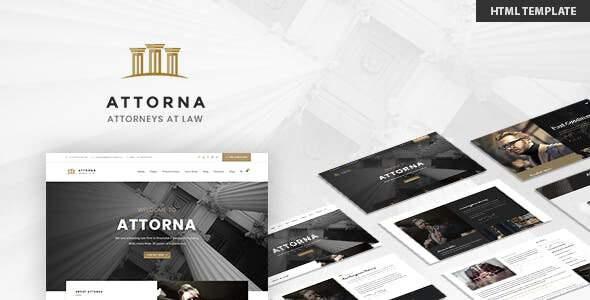 Attorna - Lawyer & Attorney HTML Template        TFx Flynn Daley