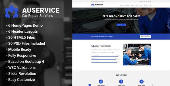Auservice - Auto Mechanic & Auto Repair HTML5 Template        TFx Ferdinand Brant