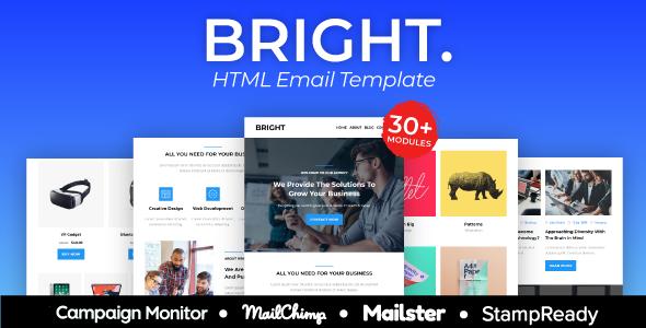 BRIGHT – Multipurpose Responsive Agency Email Template        TFx Den Poghos