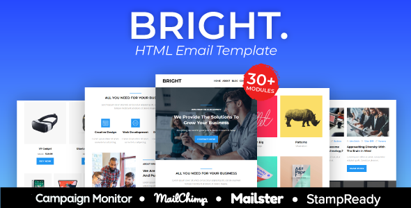 BRIGHT – Multipurpose Responsive Agency Email Template        TFx Orrell Merle
