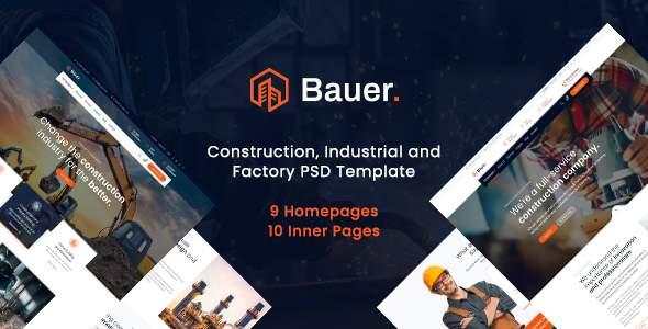 Bauer - Construction PSD Template        TFx Art Ren
