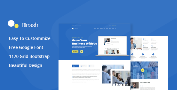 Binash - Business and Finance PSD Template        TFx Peers Clayton