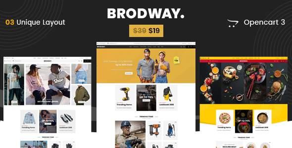 Brodway - Multipurpose OpenCart 3 Theme        TFx Allen Talon