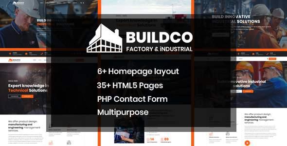 Buildco - Factory, Industrial & Construction Template        TFx Delmar Kennard