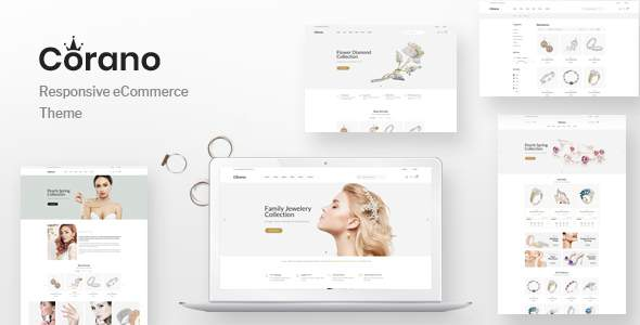 Corano - Jewellery OpenCart Theme (Page Builder Layouts)        TFx Jackson Harland