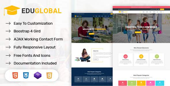 Eduglobal – Education & Courses HTML Template        TFx Wickaninnish Newt