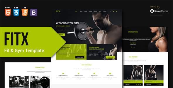 FitX - Fitness & Gym HTML Template        TFx Kenyon Chuck
