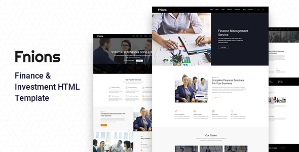 Fnions – Finance & Investment HTML Template        TFx Topher Beau