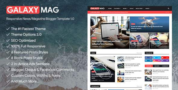 GalaxyMag – Responsive News/Magazine Blogger Template        TFx Johnathan Hollis