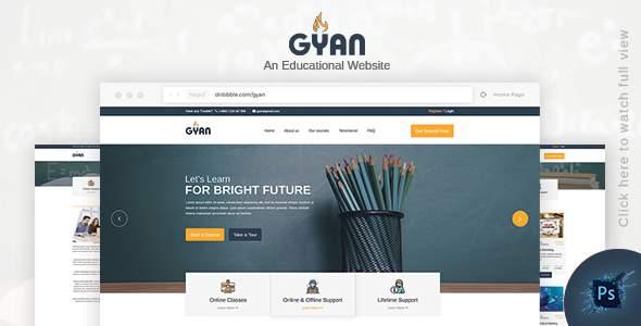 Gyan - Educational PSD Template        TFx Takuya Xochipilli
