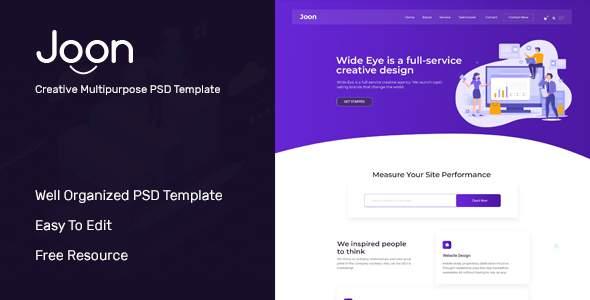 JOON - Creative multipurpose business PSD template        TFx Braith Ian