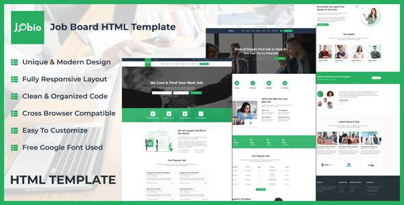 Jobio - Job Board HTML Template        TFx Bentley Dannie