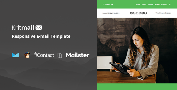 Krit Mail - 40+ Modules + Online Access + Mailster + MailChimp        TFx Cortney Frederick