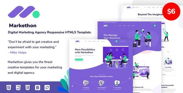 Markethon - Digital Marketing Agency Responsive HTML5 Template        TFx Rollo Isiah