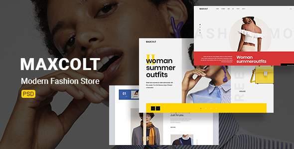 Maxcolt –  Modern Fashion Store  PSD Template        TFx Devan Jools