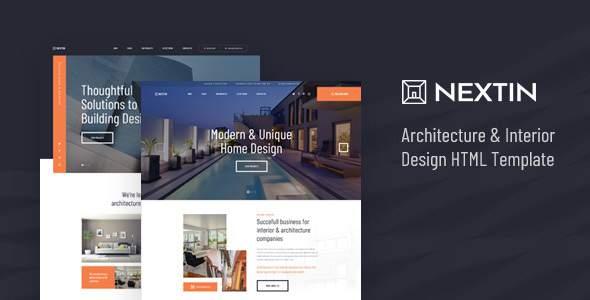 Nextin - Architecture & Interior Design HTML Template        TFx Lonny Ivan