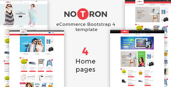 Notron – eCommerce Bootstrap 4 Template        TFx Jimmie Sidney