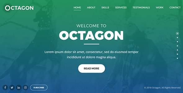 Octagon - Portfolio, Agency and Business Drupal 8 Theme        TFx Bentley Wilburn
