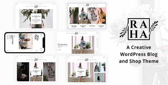 Raha - A Creative WordPress Blog & Shop Theme        TFx Rhys Noel