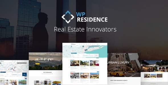 Residence Real Estate WordPress Theme        TFx Myles Quanah