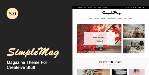SimpleMag - Magazine theme for creative stuff        TFx Stanford Omar