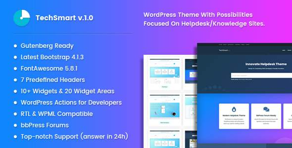 TechSmart - Helpdesk and Knowledge Base WordPress Theme        TFx Mickey Cary