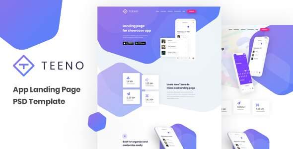 Teeno - App Landing Page        TFx Ryouichi Perce